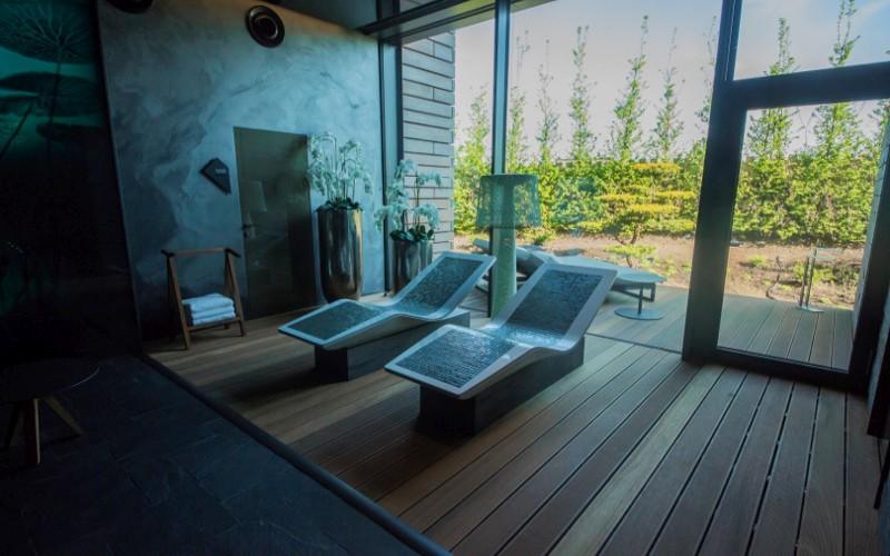 Luxusní wellness Klafs se sněhovou místností pro ochlazení po sauně