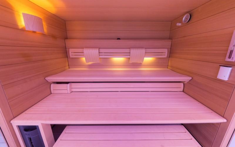 Moderní sauna Klafs v soukromém rodinném wellness