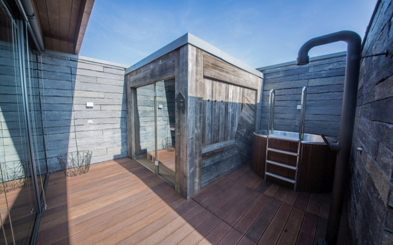 Venkovní sauna Klafs pro dvě osoby od Aquamarine Spa