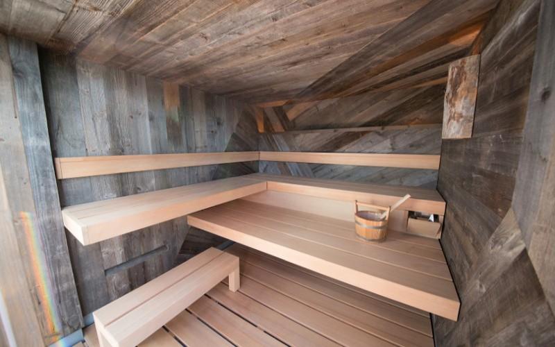 Luxusní sauna Klafs na míru v privátní části hotelového wellness