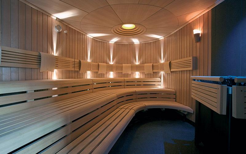 hotelová sauna KLAFS s individuálním designem - výroba na míru