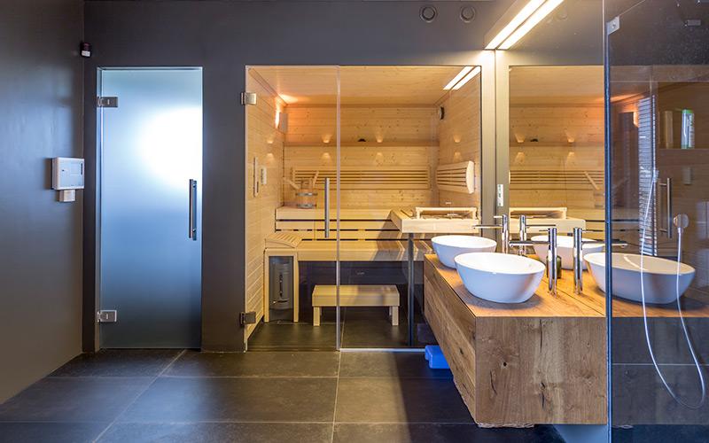 Sauna Klafs Premium s možností mírnějšího saunování