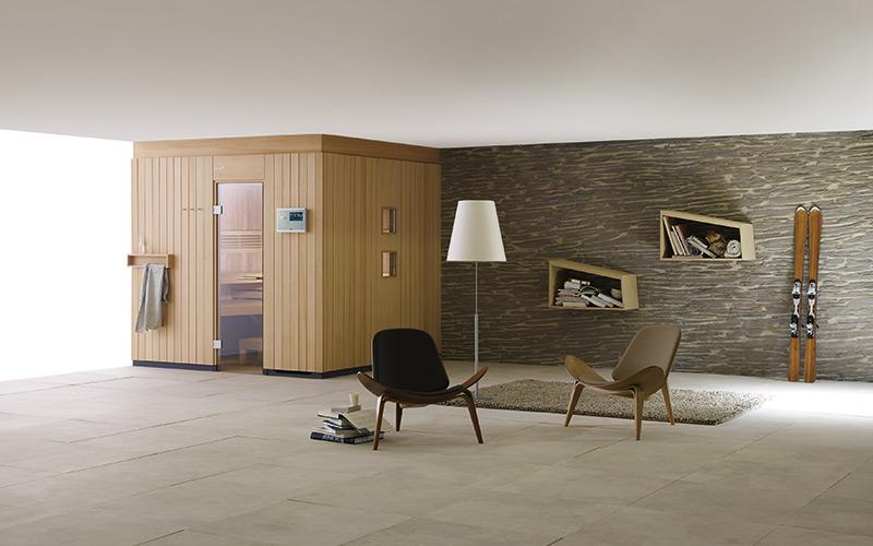 Nejoblíbenější luxusní sauna Klafs Premium se skleněnými dveřmi