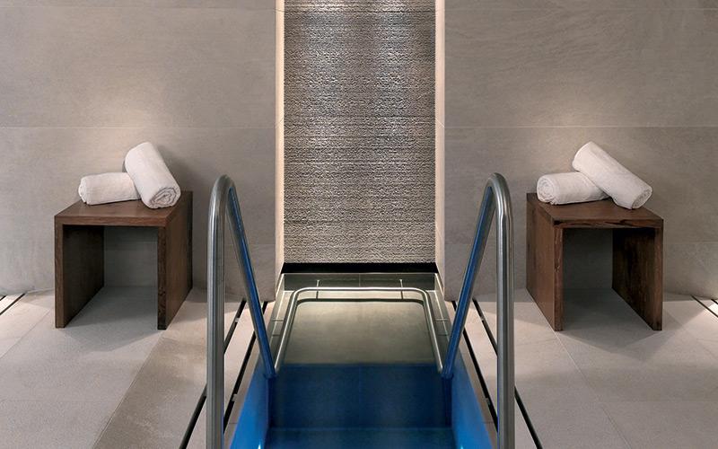 Malý luxusní nerezový ochlazovací bazének po saunování