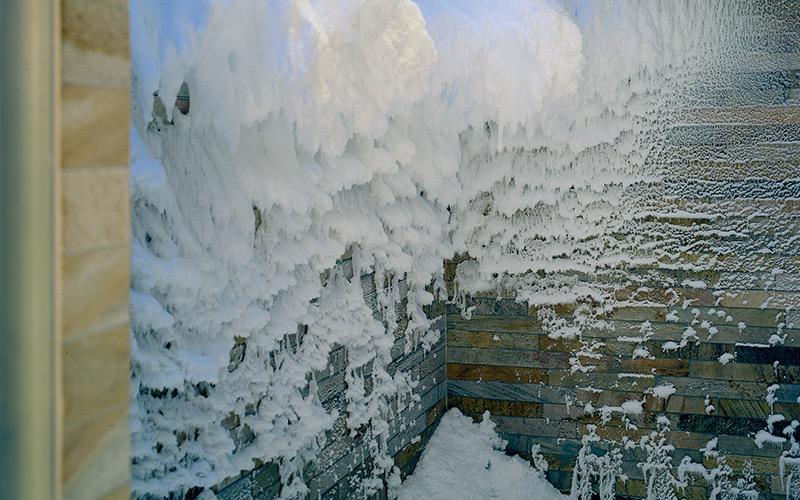 Sněhová ochlazovací místnost Klafs v komerčním wellness