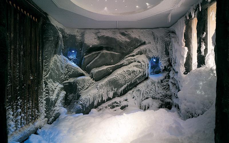 Sněhová komora Klafs pro ochlazení po saunování
