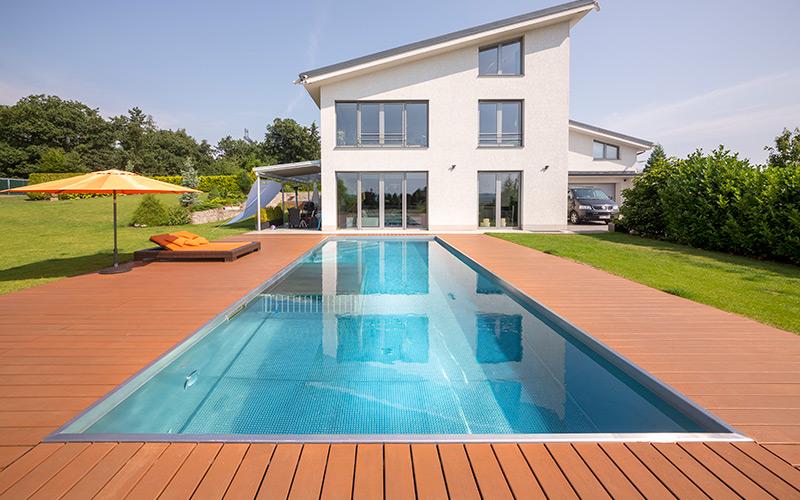 Velký rodinný bazén Imaginox z nerezu a unikátními doplňky