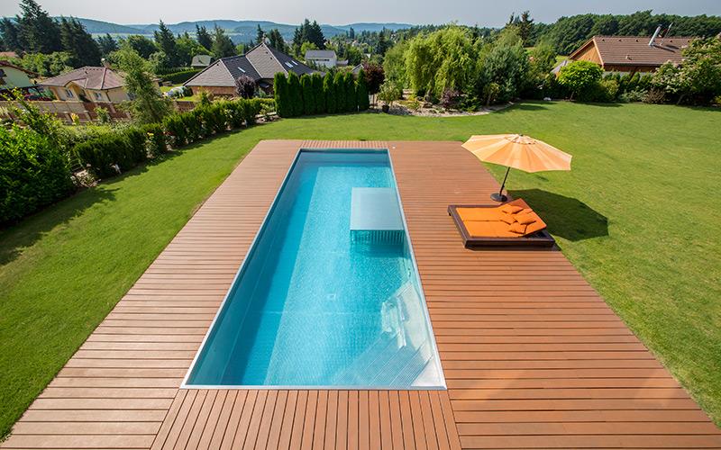 Velký exkluzivní nerezový rodinný bazén Imaginox s brouzdalištěm pro děti