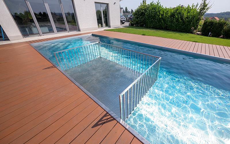 Brouzdaliště pro děti v rodinném nerezovém bazénu Imaginox