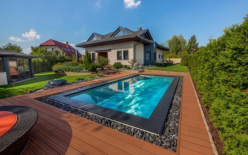 Luxusní rodinný bazén Imaginox u rodinného domu