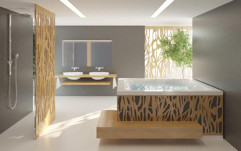 vířivka Imaginox s designovým dřevěným obložením