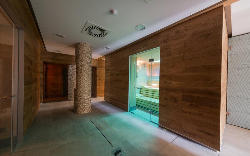 sauna v komerčním spa v Grandhotelu Tatra