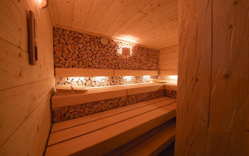 sukové obložení sauny Klafs v Grandhotelu Tatra
